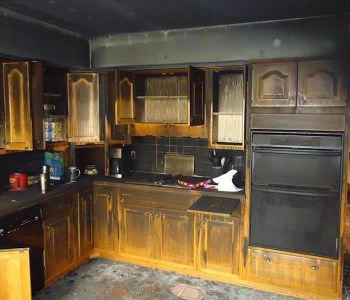 Fire Damage to Kitchen Before