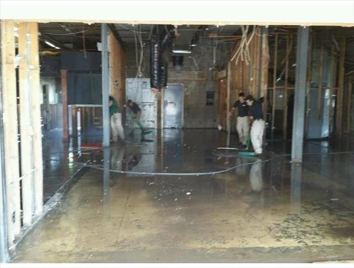 Flooded Restaurant in Kansas City After