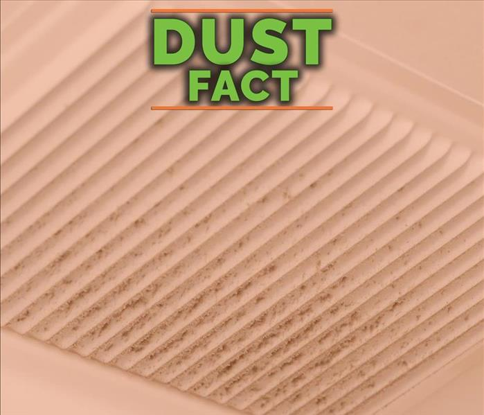 Dust accumulated on air duct