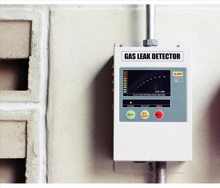 A picture of a gas leak detector on a wall